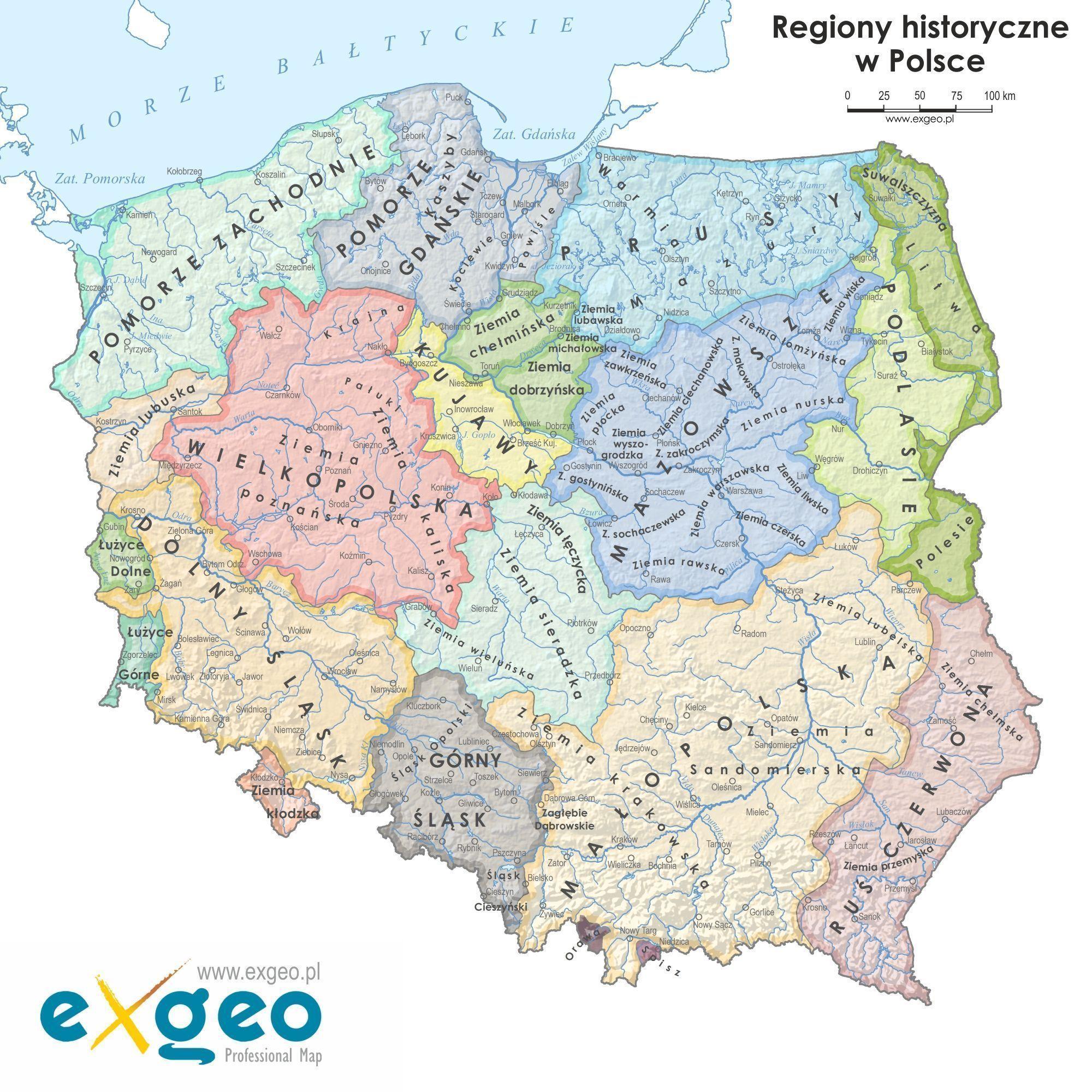 Krainy Historyczne W Polsce 10 Faktów Które Warto Poznać Mapy