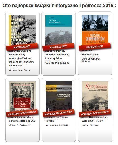 Najlepsze książki historyczne wyróżnione w plebiscycie Historia Zebrana I 2016
