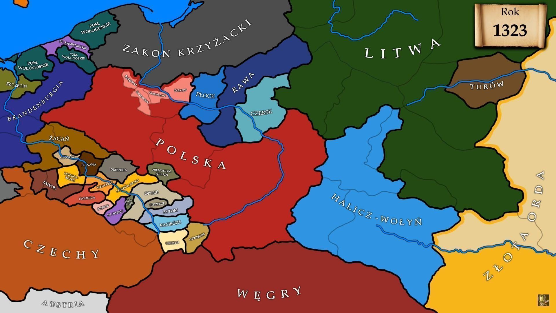 Wladyslaw Lokietek I Kazimierz Wielki Na Mapach Rok Po Roku