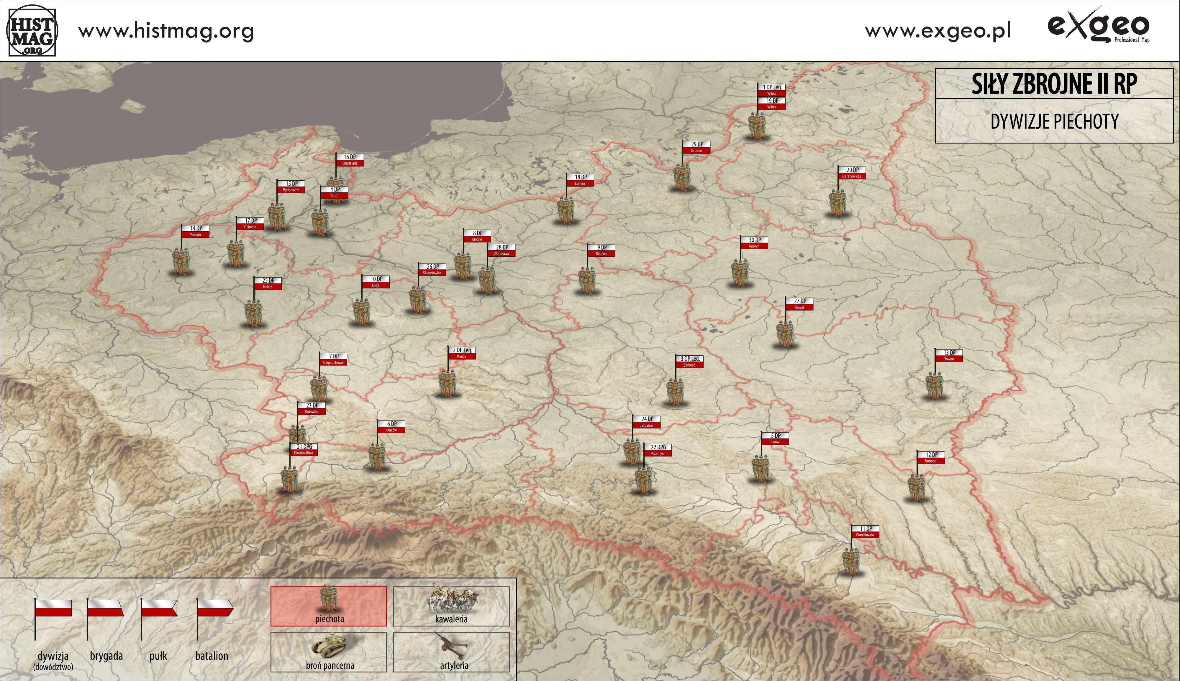 Wojsko W Ii Rp Mapy Portal Historyczny Histmagorg Historia