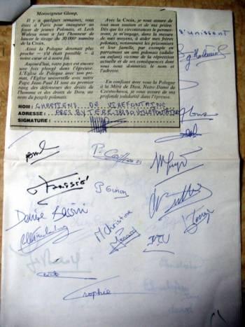 """list do prymasa Glempa zredagowany przez """"Le Croix"""""""