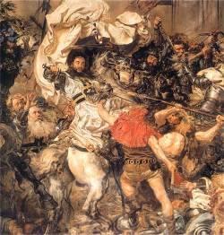 Fragment obrazu Bitwa pod Grunwaldem