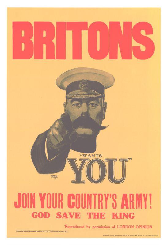 Zaciągnij Się Brytyjskie Plakaty Werbunkowe Z I Wojny