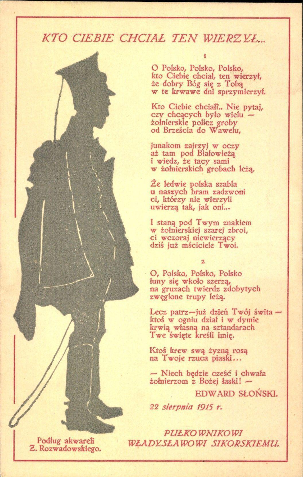 Edward Słoński Autor Najpopularniejszego Wiersza Polskiego