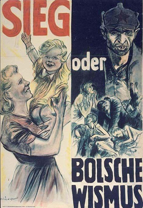 Führer Zwycięstwo Praca Niemieckie Plakaty Propagandowe Z
