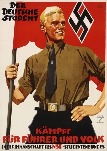 Führer, zwycięstwo, praca. Niemieckie plakaty propagandowe ...
