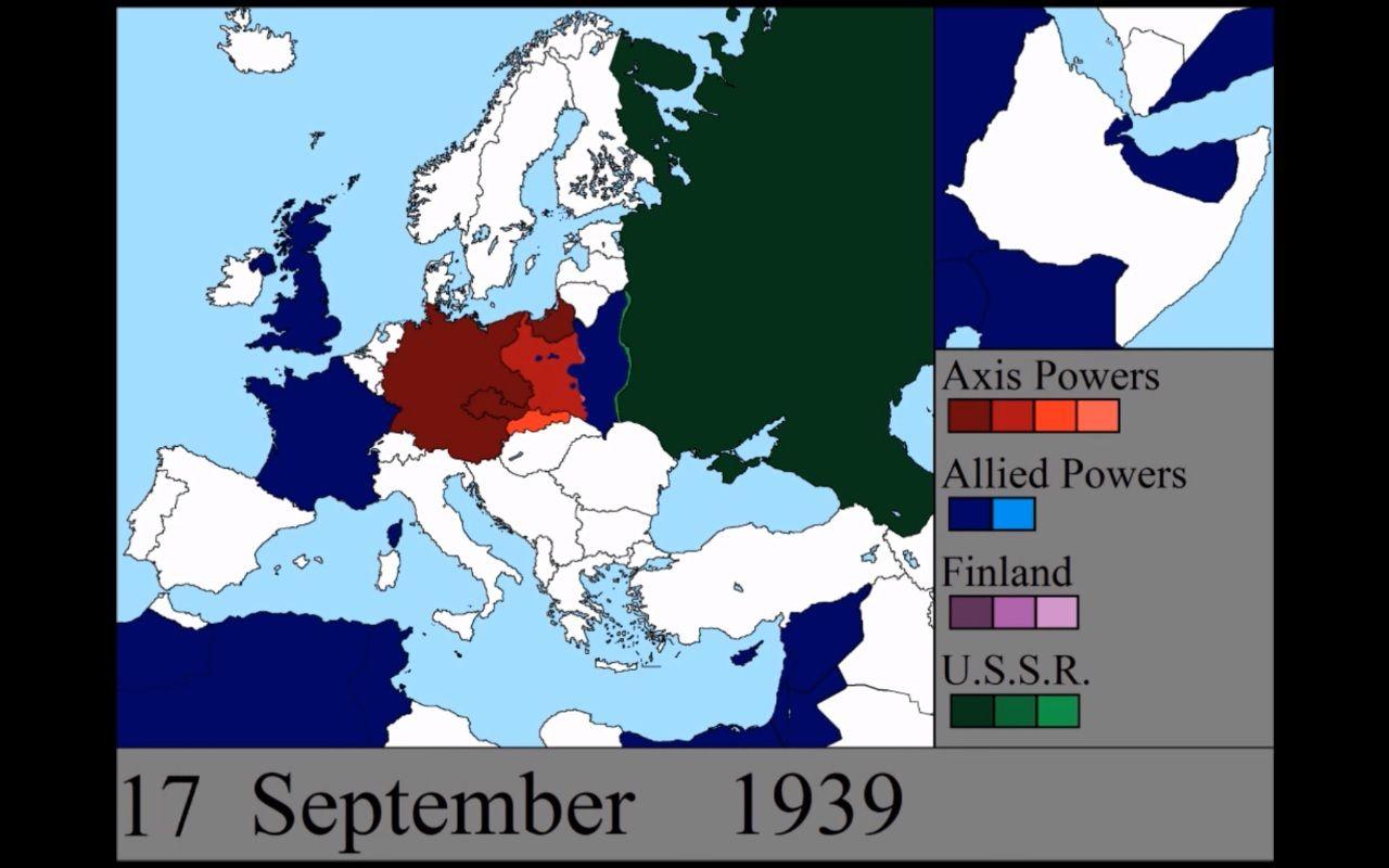 Mapa Europy W Trakcie Ii Wojny Swiatowej Dzien Po Dniu Video