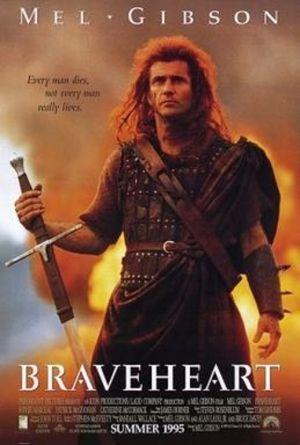 """""""Braveheart. Waleczne serce"""" reż. Mel Gibson recenzja i ocena filmu plakat"""