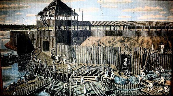 Budowa wczesnośredniowiecznego grodu