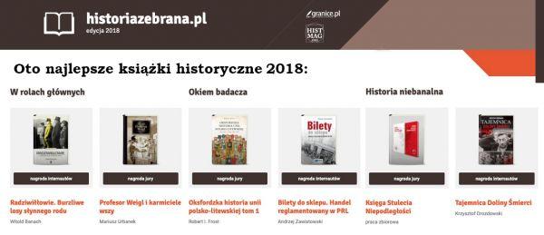 najlepsze książki historyczne 2018
