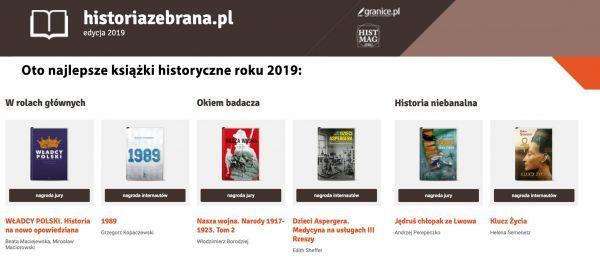 Historia Zebrana - najlepsze książki historyczne 2019