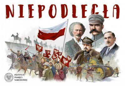 """""""Niepodległa. Planszowa gra 100-lecia"""" - recenzja i ocena - okładka"""