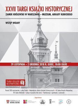 XXVII Targi Książki Historycznej w Warszawie 2018 - plakat