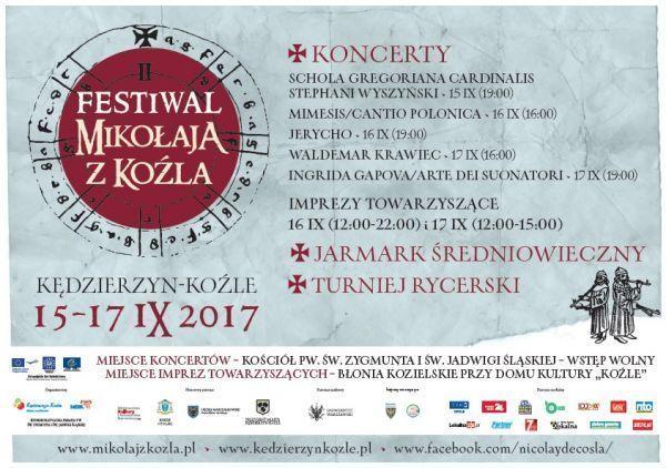 II. Festiwal Mikołaja z Koźla - plakat